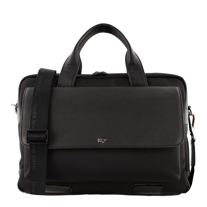 murano-businesstasche-genarbtes Rindleder und Nylon-14372-520-010-31
